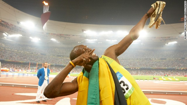 The Olympics are full of great moments, and Usain Bolt's victory in 2008 was one of them. Robert Beck positioned himself by the 30-meter mark on the track. During Bolt's victory lap, he pulled his signature lightning bolt move, striking his famed gold shoes in the air with the stadium lights illuminating him perfectly -- right in front of Beck. It takes a lot of preparation to nail down the right spot, but sometimes, it really does come down to being in the right place at the right time.