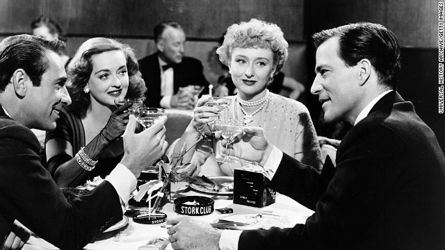 "Oscar-winning actress Celeste Holm died at her home in New York on July 15 at the age of 95. Here Holm, center, appears in 1950's ""All About Eve"" with Garry Merrill, from left, Bette Davis and Hugh Marlow."