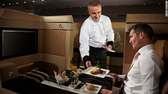 First-class cuisine at 35,000 feet no longer pie in the sky