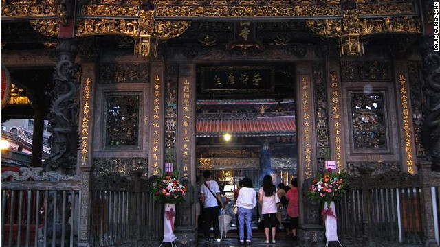 Immigrants from China's Fujian province built Longshan Temple in 1738 during the Qing Dynasty.
