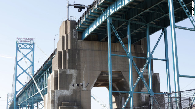 The Coast Guard closed the Ambassador Bridge between Michigan and Ontario late Monday in response to a threat.