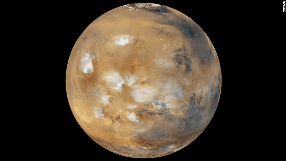 Water-ice clouds, polar ice and other geographic features can be seen in this full-disk image of Mars from 2011. NASA's Mars Curiosity Rover touched down on the planet on August 6. Take a look at stunning photographs of Mars over the years. <a href='http://www.cnn.com/2012/08/14/tech/gallery/mars-curiosity-rover/index.html' target='_blank'>Check out images from the Mars rover Curiosity</a>.