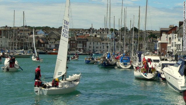 During the Olympics Weymouth harbor is hosting a number of events for sailing fans. The &quot;Weymouth &amp;amp; Portland Live&quot; site will show all sailing and other major Olympic events live on two giant 60 square meter television screens.