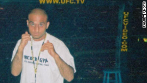 Usman Raja in his cage-fighting days when he rose to become one of the UK\'s most renowned fighters.