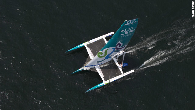 The &quot;Musandam-Oman Sail&quot; is a trimaran and was one of five new 70 feet multifhull yachts to compete in the Krys Ocean Race, which has attracted some of the biggest names in offshore racing. 