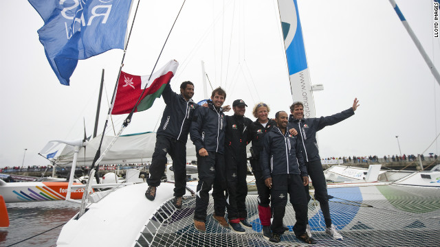 Presently both Omani and non-Omani sailors sail under the Oman Sail flag and this year's multihull crew consists of Omani, French, American and British sailors. The aim is for the Omani sailors to share the knowledge gained with their fellow countrymen and women in the training program back home.