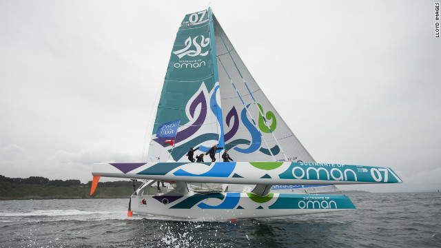 The Omani crew started the race really strong but after 24 hours they lost their lead as one of the yacht's foils snapped off . The crew managed to fix the boat, but as a result they could only sail on the starboard side across the Atlantic. Despite this setback they managed to reach speeds up to 39 knots and finished fourth in the race.