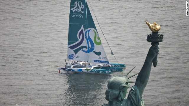 The Krys Ocean Race started in New York City on July 7, the final destination was the French city of Brest. It took the &quot;Musandam-Oman Sail&quot; yacht 5 days, 7 hours, 5 minutes and 38 seconds to cross the Atlantic. 
