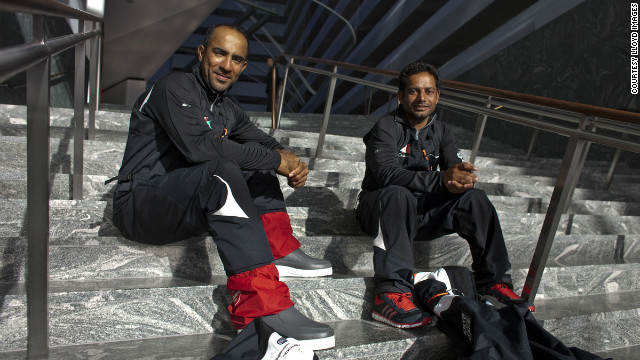 Omani sailors Fahad Al Hasni Mohsin Al Busaidi were among the crew who helped sail the &quot;Musandam-Oman Sail&quot; yacht across the Atlantic Ocean, making it the first Arab yacht ever to complete a transatlantic race.
