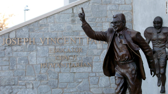The statue of Paterno outside Beaver Stadium is among many vestiges of Paterno's years as head coach.