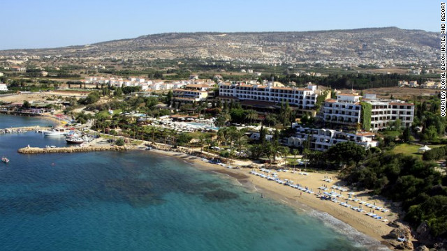 Coral Beach Hotel &amp; Resort in Paphos is located on the edge of the UNESCO-protected Akamas Peninsula on Cyprus's western coast. <a href='http://www.budgettravel.com/slideshow/photos-best-budget-beachfront-all-inclusives,8613/' target='_blank'>See more photos of the resorts at BudgetTravel.com</a>