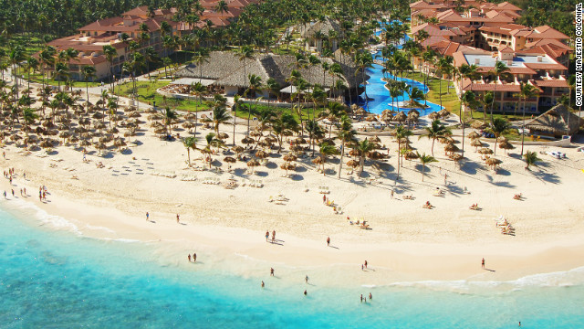 This 658-room resort in Punta Cana gives you a lot of choices for how to spend your evening: There are eight restaurants, plus nine bars, including a piano bar and a sports bar. &lt;a href='http://www.budgettravel.com/slideshow/photos-best-budget-beachfront-all-inclusives,8613/' target='_blank'&gt;See more photos of the resorts at BudgetTravel.com&lt;/a&gt;