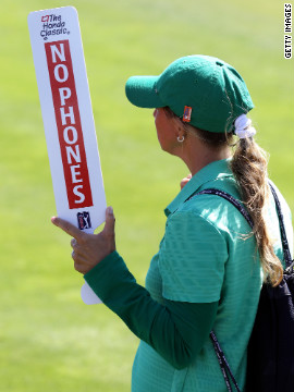 Golf fans have always observed strict on-course etiquette. World No. 3 Lee Westwood and Australia's Adam Scott have both backed the use of phones at the British Open, providing it does not distract the players.