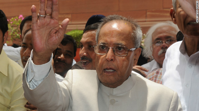 Presidential nominee Pranab Mukherjee, pictured here on June 28, 2012, is considered the almost-certain winner. 