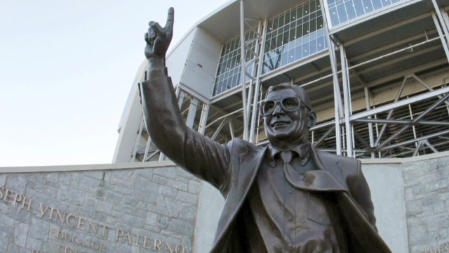 The 900-pound bronze statue, outside Beaver Stadium, will be stored in a