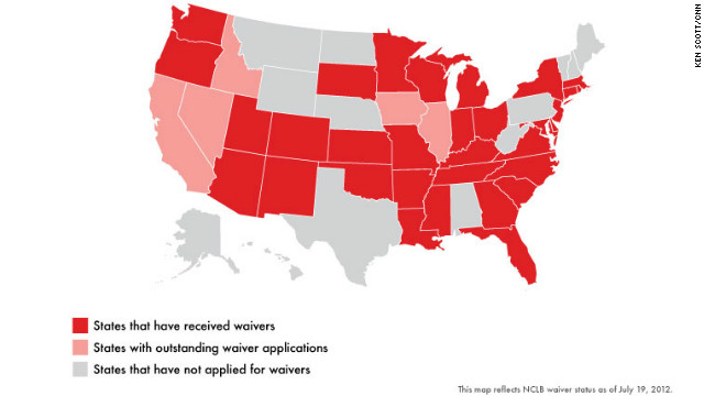 More states and D.C. receive NCLB waivers; Vermont, Alabama, Nebraska reject them