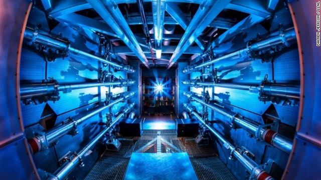 The world's largest laser generates 1,000 times more power in one blast than the United States does at any one instant. 