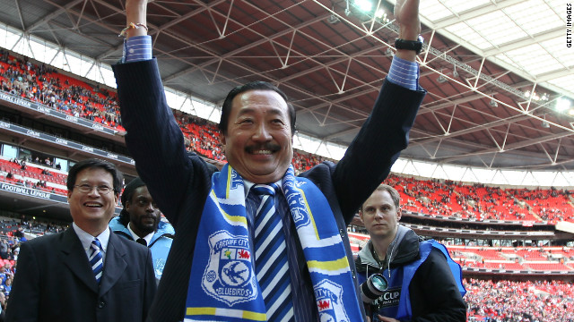 On May 27, 2010 Malaysian businessman Dato Chan Tien Ghee (pictured) became Cardiff's new chairman, bringing with him $1.3 billion worth of cash. Fans greeted the club's new owner with reactions varying from apprehension to outspoken anger, as Ghee announced controversial new plans to rebrand the club for the 2012-2013 season -- complete with a new crest and a red kit.