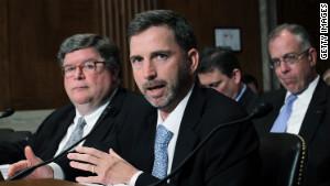 Acting GSA Administrator Dan Tangherlini testifies during a Senate committee hearing in April.