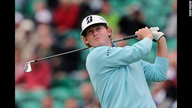 Brandt Snedeker of the United States tees off on the fifth hole during the second round Friday.