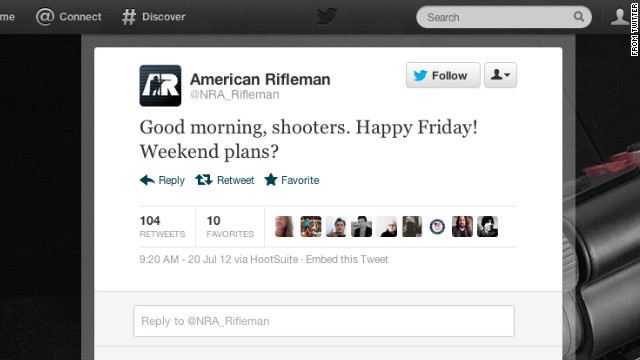 NRA Removes u201CGood Morning Shooters u201D Tweet