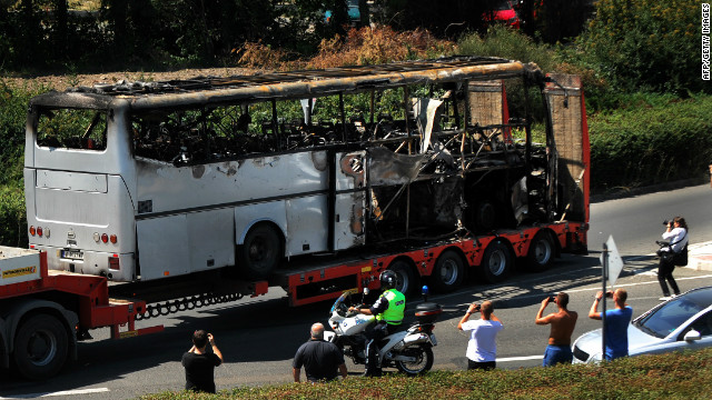 Photos: Bus explosion in Bulgaria