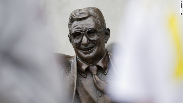 The removal of the statue comes ahead of sanctions on Penn State from the NCAA, to be announced Monday.