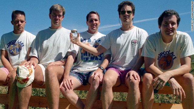 From left to right: John Wardlaw, Mark Rumer, Dallas Burney, John Molony and John Dickson in 1997.