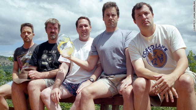 From left to right: John Wardlaw, Mark Rumer, Dallas Burney, John Molony and John Dickson in 2002.
