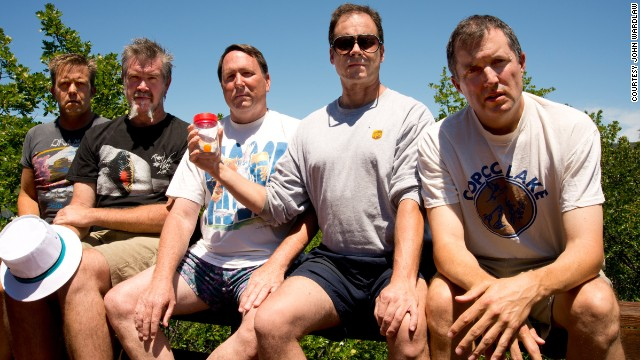 From left to right: John Wardlaw, Mark Rumer, Dallas Burney, John Molony and John Dickson in 2012. 