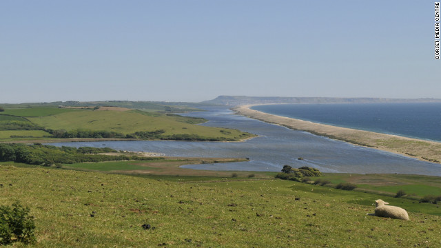 "Chesil Beach is a 28 kilometer long barrier beach covered in shingles. The beach plays a big part in the book ""On Chesil Beach"" by British author Ian McEwan of ""Atonement"" fame."