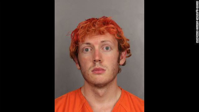 Police release the official photo from Holmes' booking after the shooting.