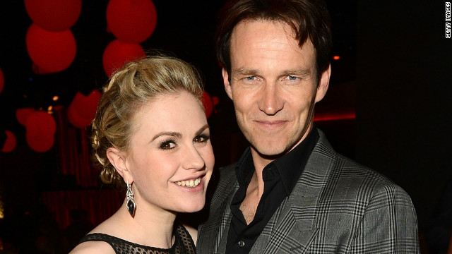 "Anna Paquin is celebrating LGBT Pride Month this June by proudly declaring her status as a ""happily married bisexual mother."" The ""True Blood"" actress has been wed to her co-star Stephen Moyer, right, since 2010, the same year she initially shared her sexual orientation with the public. ""Marriage is about love,"" Paquin tweeted on June 8, ""not gender."""