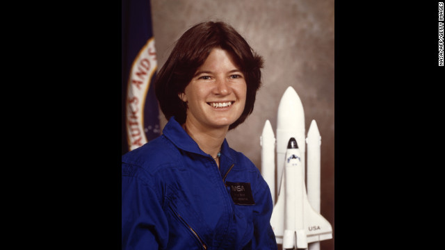 Ride appears in an offical NASA portrait in January 1983.