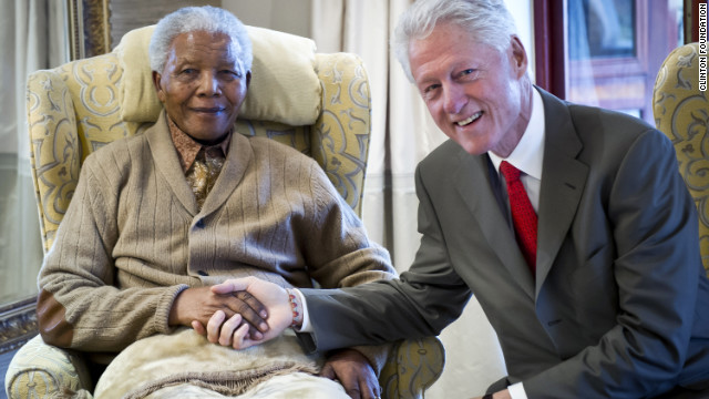 It topped a big week for South Africans, whose former president Nelson Mandela turned 94 on July 18. He is seen here with former U.S. leader Bill Clinton at his home in Qunu the day before his birthday.