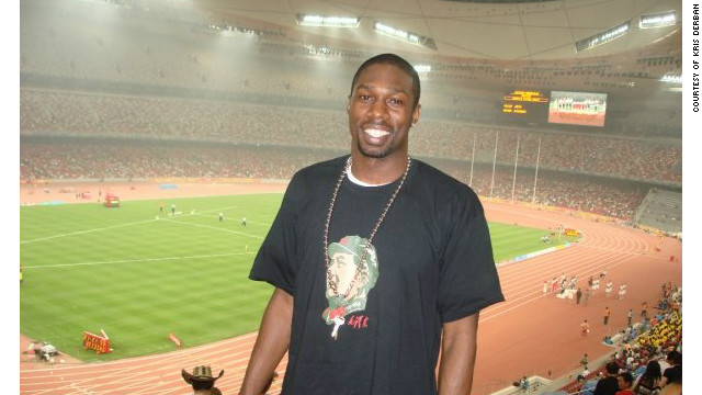 American Kris Derban, who has lived in China for eight years, pictured at the 2008 Beijing Olympics.