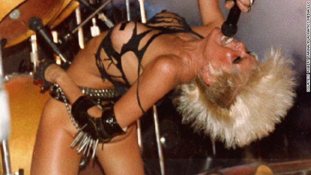Wendy O. Williams and the Plasmatics became known for antics such as cutting guitars in half with a chainsaw, blowing up Cadillacs and putting black electrical tape to creative uses.