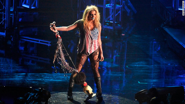 "Ke$ha, who appeared in Perry's ""I Kissed a Girl"" video, goes for glitter and, she told Spin magazine, a ""Mad Max"" vibe."