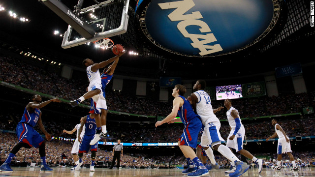 "Kentucky celebrates the 2012 national championship in April. Sixty years earlier, the NCAA opened an investigation into the University of Kentucky Wildcats basketball program, following a national championship season in which three players had been arrested in a point-shaving scandal. The subsequent probe revealed that 10 players had received impermissible financial aid. The NCAA banned the school's entire athletic program from playing for a year -- in effect, marking the advent of the so-called ""death penalty,"" even though the penalty wasn't given the nickname until the 1980s."