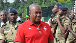 John Dramani Mahama was sworn in as Ghana\'s new president Tuesday.