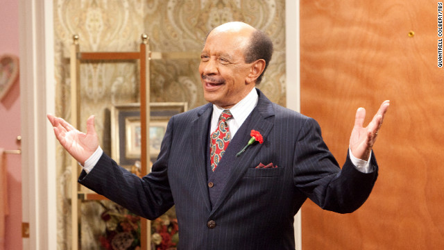 Sherman Hemsley reacts during a scene in an episode of &quot;House of Payne&quot; in April 2011. Hemsley, who played the brash George Jefferson on &quot;All in the Family&quot; and &quot;The Jeffersons,&quot; died Tuesday at 74, his booking agent said. 