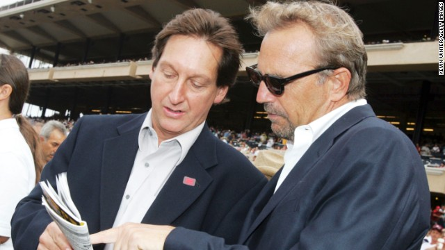 Actor and director Kevin Costner, right, part-owns a number of racehorses which mainly run at Hollywood Park in California. He also supported the industry by voicing a documentary called