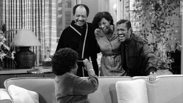 Sammy Davis Jr., right, guest stars on &quot;The Jeffersons'&quot; episode &quot;What Makes Sammy Run?&quot;
