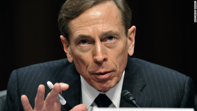 CIA Director David Petraeus is pictured here on January 31, 2012. 