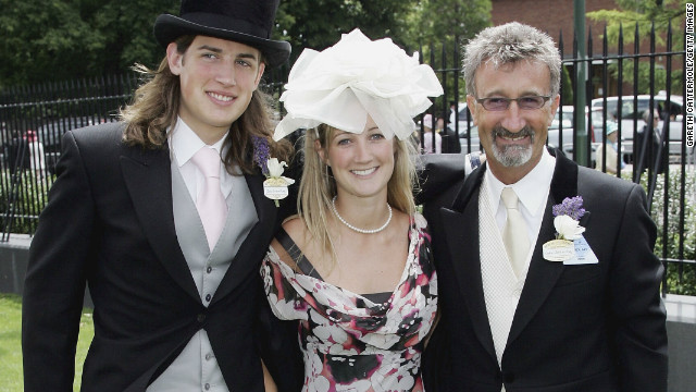 Eddie Jordan (right) is no stranger to horsepower, having owned the Jordan Formula One team. The Irishman owns a number of horses in training with the Michael