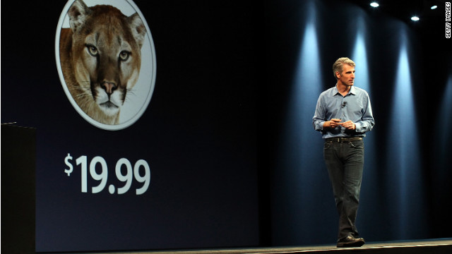 Apple Senior VP Craig Federighi discusses Mountain Lion during Apple's Worldwide Developer Conference in June.