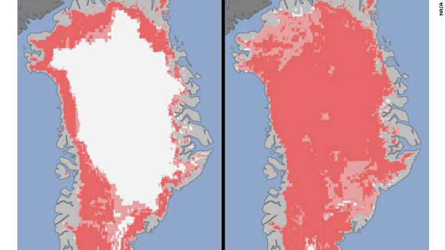 Groenlandia se derrite en tiempo récord