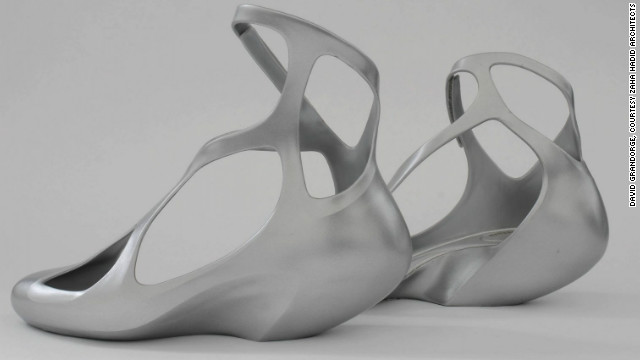 Hadid has also designed furniture, door handles, vases and these plastic shoes for Brazilian label Melissa.