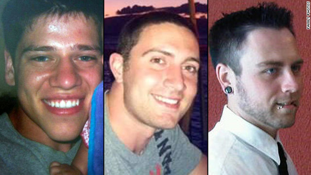 Jon Blunk, Alex Teves and Matt McQuinn were killed in the Aurora shooting, as they used their bodies to shield their girlfriends.