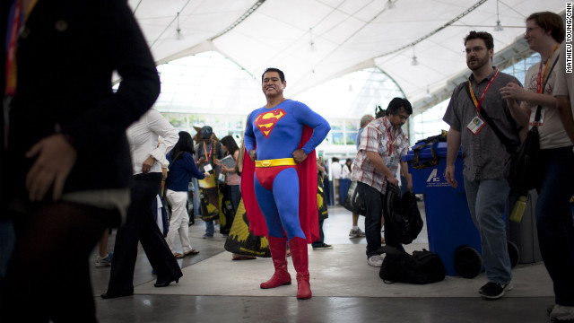 Superman won't get lost in the crushing Comic-Con crowds.